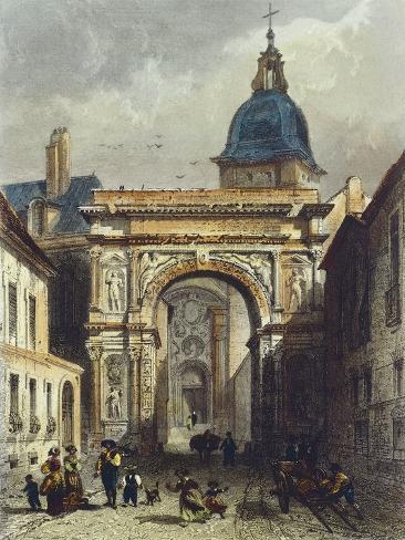 Roman Triumphal Arch in Besancon Reproduction procédé giclée