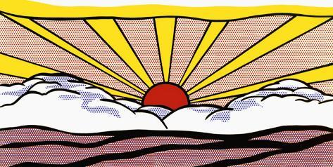 Lever du soleil, vers 1965 Reproduction d'art