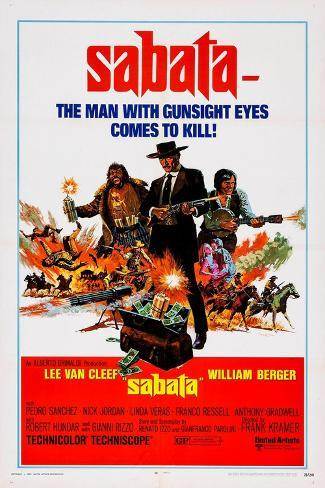 Sabata, (Aka Ehi Amico... C'E Sabata, Hai Chiuso!), 1969 Reproduction d'art