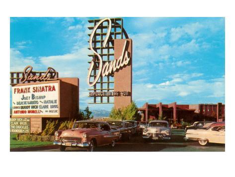 Sands Hotel, Las Vegas,  Nevada , Retro Reproduction d'art