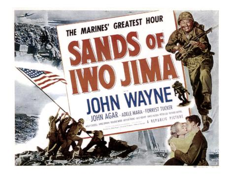 Sands Of Iwo Jima, John Wayne, 1949 Photographie