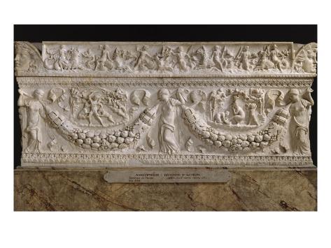 Sarcophage à guirlandes : légende d'Actéon Autre