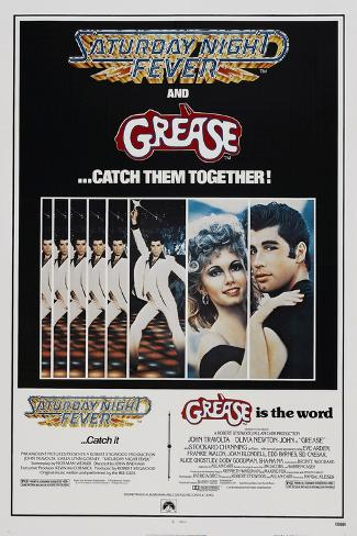 Saturday Night Fever / Grease Reproduction giclée Premium