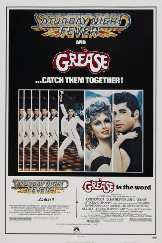 Saturday Night Fever / Grease Reproduction d'art