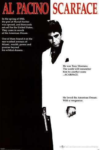 Scarface avec Al Pacino Poster