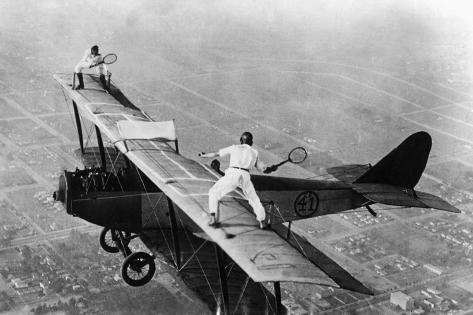 Tennis on a Plane, 1925 Reproduction photographique