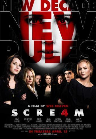 Scream 4 Affiche originale