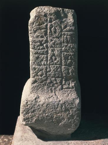 Sepulchral Stone with Inscriptions Reproduction procédé giclée