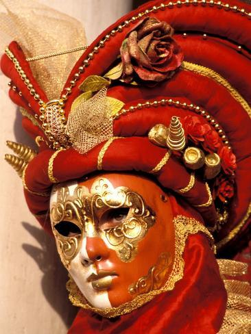 Traditional Costumes, Carnival, Venice, Italy Reproduction photographique