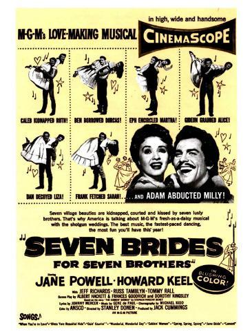 Seven Brides for Seven Brothers, 1954 Reproduction d'art