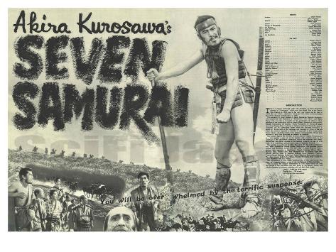 Seven Samurai, 1954 Reproduction d'art