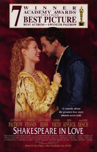 Shakespeare in Love Affiche originale