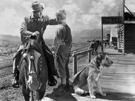 Shane, Alan Ladd, Brandon De Wilde, 1953 Photographie