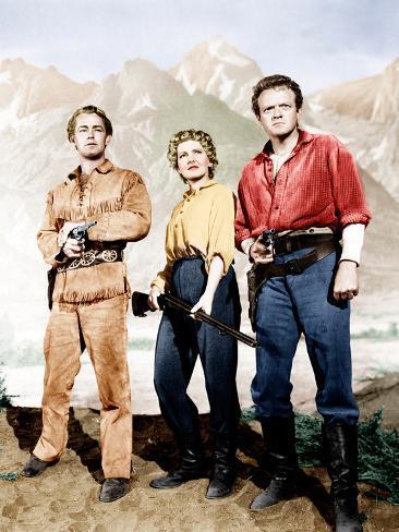 Shane, Alan Ladd, Jean Arthur, Van Heflin, 1953 Photographie