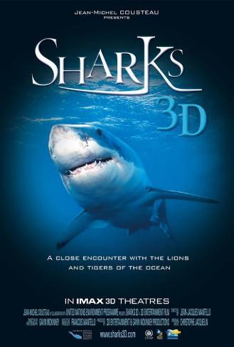 Sharks 3D Poster