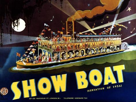 Show Boat, 1936 Reproduction d'art