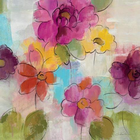 Summer Flower Song I Reproduction d'art