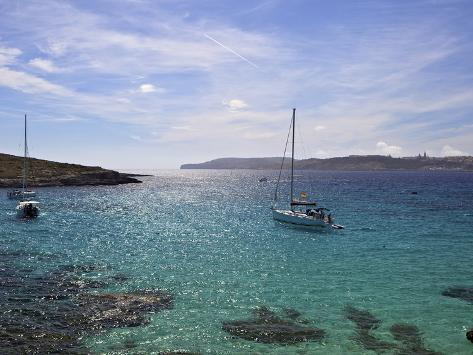 Blue Lagoon, Comino Island, Malta, Mediterranean, Europe Reproduction photographique
