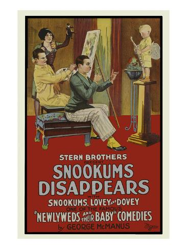 Snookers Disappears Reproduction d'art