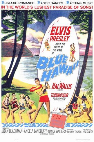 Sous le ciel bleu d'Hawaii Affiche originale