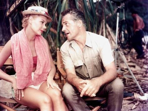 South Pacific, Mitzi Gaynor, Rossano Brazzi On Set, 1958 Photographie