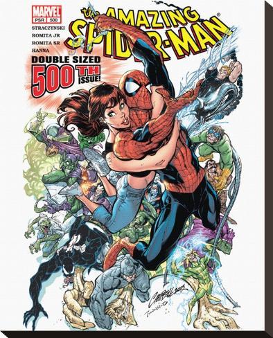 Spiderman-Comic Book Toile tendue sur châssis