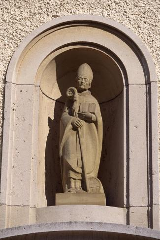 St Willibrord, Bishop of Echternach and Founder of Local Abbey, Luxembourg Reproduction procédé giclée