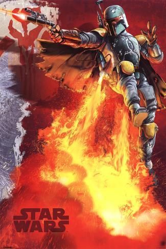 Star Wars - Boba Fett blast Poster