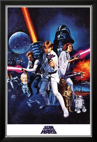 Star Wars, épisode IV : Un nouvel espoir Poster en laminé encadré