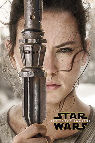 Star Wars The Force Awakens- Rey Teaser Poster