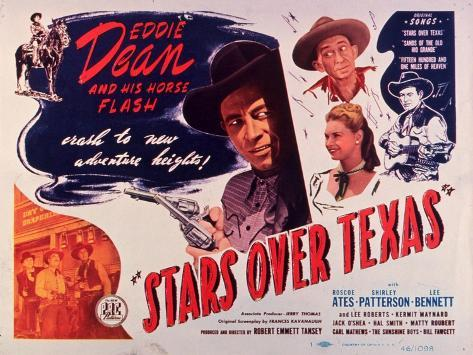 Stars Over Texas, 1946 Reproduction d'art