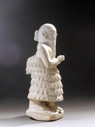 Statuette of Lamgi-Mari, King of Mari City, from Mari Reproduction procédé giclée
