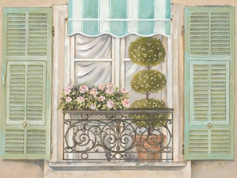 French Shutters 1 Reproduction giclée Premium