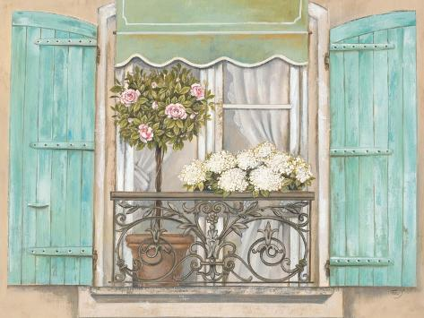 French Shutters 2 Reproduction giclée Premium