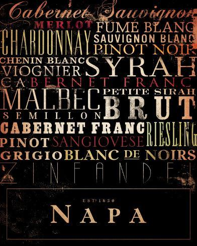 Napa Type Reproduction d'art