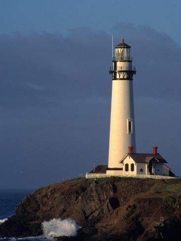 Pigeon Point Lighthouse of San Mateo County, San Francisco, California, USA Reproduction photographique