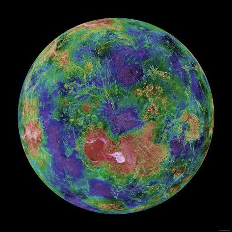 Venus Centered on the North Pole Reproduction photographique