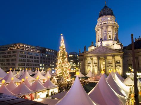 Christmas Market, Gendarmenmarkt, Berlin, Germany, Europe Reproduction photographique