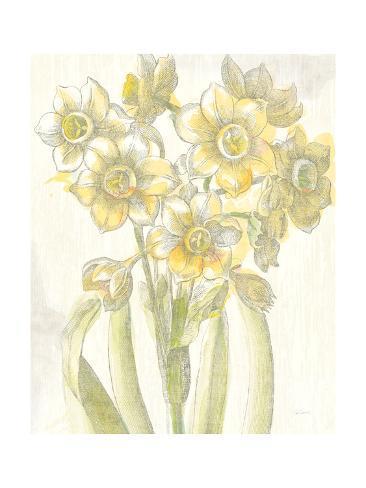 Belle Fleur Yellow IV Crop Reproduction giclée Premium