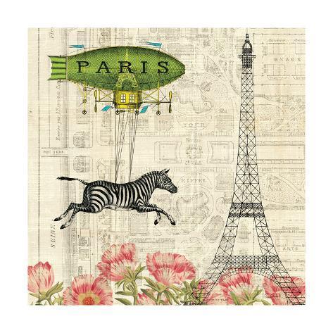Wild About Paris I Reproduction d'art