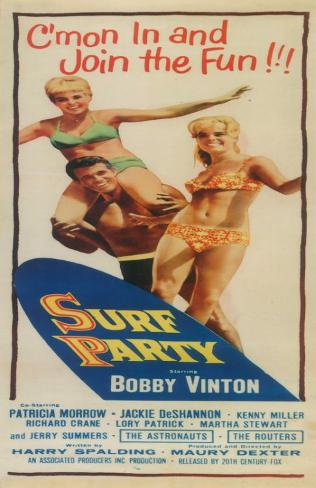 Surf Party Mini-affiche
