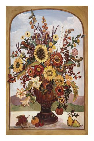 Autumn Vase Reproduction d'art