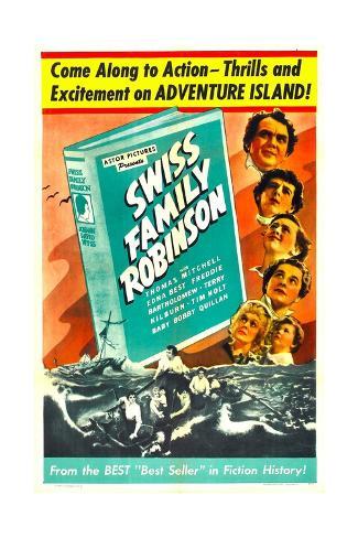 Swiss Family Robinson Reproduction d'art