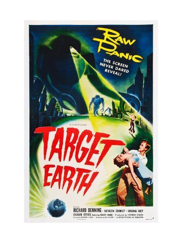 Target Earth, Bottom Right: Richard Denning, Kathleen Crowley (Being Held), 1954 Photographie