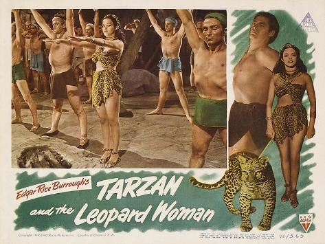 Tarzan and the Leopard Woman, 1946 Reproduction d'art