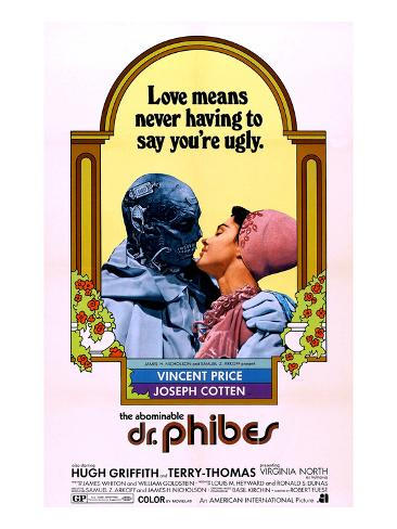 The Abominable Dr. Phibes, Vincent Price, Virginia North, 1971 Photographie