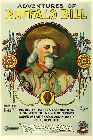The Adventures of Buffalo Bill Movie Plastic Sign Signe en plastique rigide