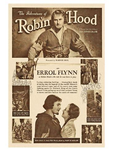 The Adventures of Robin Hood, 1938 Reproduction d'art