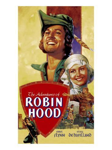 The Adventures of Robin Hood, Errol Flynn, Olivia De Havilland, 1938 Photographie