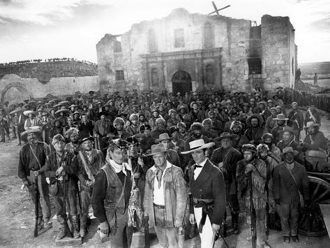 The Alamo, John Wayne, Richard Widmark, Laurence Harvey, 1960 Photographie